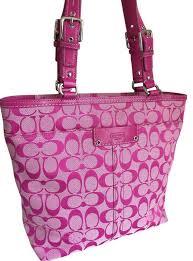 ... inexpensive coach hampton shoulder tote in fusia hot pink f8a11 1a8cc