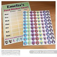 Personalised Childrens Mealtime Food Sticker Chart Reward Stickers 3962350701372 Ebay