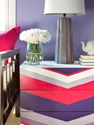 multi colored painted furniture. Bold Chevron-Painted Dresser In Purples And Pink Multi Colored Painted Furniture D