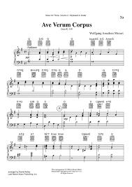 ave verum corpus sheet music ave verum corpus k 618 keyboard or guitar sheet music for