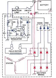 si and si type alternator repair manual figure 3 typical internal wiring 10si alternator shown 15si is same except
