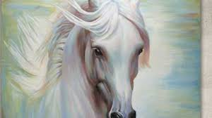 1280x720 white horse das weisse pferd original painting by jampo art white horse canvas painting
