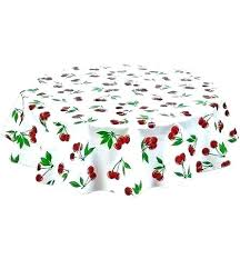 round oilcloth tablecloths tablecloth in cherry aqua oval uk