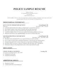 Resume For Law Enforcement