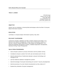 Free Basic Resume Examples Skills Based Rare Templates Template