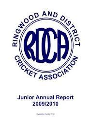 2009/2010 (363kb) - Ringwood and District Cricket Association
