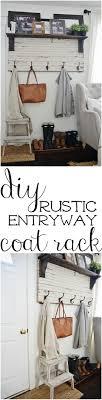 Coat Rack Part DIY Rustic Entryway Coat Rack Entryway coat rack Rustic entryway 85