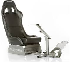 playseat evolution gaming chair black silver