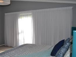 Sheer Bedroom Curtains Double Track With A Sheer Curtain At The Front With A Lining At