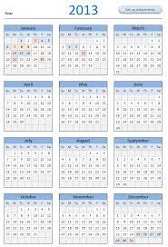 printable year calendar 2013 12 month calendar 2013 free 2013 calendar download and print year
