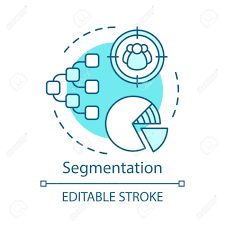 Segmentation Turquoise Concept Icon Marketing Element Pie Chart