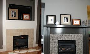 Fireplace renovations before and after