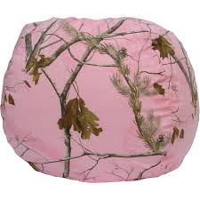 real tree army fatigues pattern made of cotton and polyester bean bag chair pink