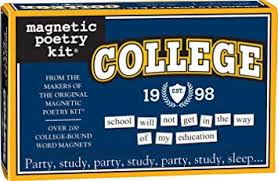Word College Amazon Com Magnetic Poetry College Kit Words For Refrigerator