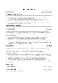 Standard Resume Template Inspiration Standard Resume Template