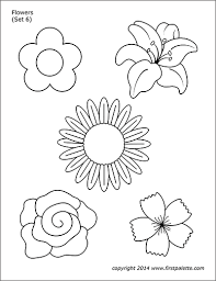 The templates were designed to fit an a4 sheet of paper (210mm x 297mm/ 8.27″x 11.69″) but you can also print them on us letter size which is slightly. Flowers Free Printable Templates Coloring Pages Firstpalette Com