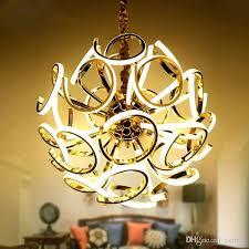 chandelier led creative spherical chandelier new design modern led chandelier lamp silver hanging light diameter dinning chandelier led led vintage light