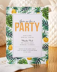 Tropical Party Invitations Have Your Friends Join You For A Tropical Party This Summer With A