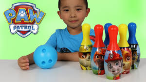 paw patrol bowling set indoor outdoor fun children chase marshal rubble rocky ckn toys