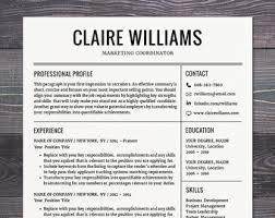 Contemporary Resume Templates Free Resume