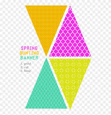 Free Printable Bunting Banner Hd Png Download 1528109