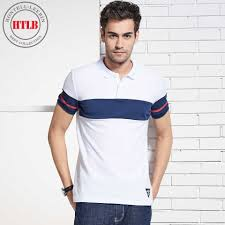 HTLB Men's Summer Business Casual Polo Shirts Brand New <b>2018</b> ...