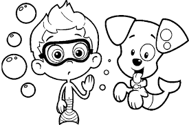 Small Picture Free Bubble Guppies Coloring Pages Cartoon Coloring pages of
