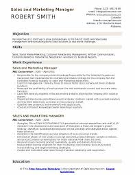 Sales And Marketing Manager Resume Samples Qwikresume