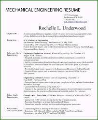 Mechanical Engineering Resume Templates Wonderful 54