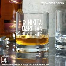 bride groom one ac personalized whisky glasses at custom scotch crystal