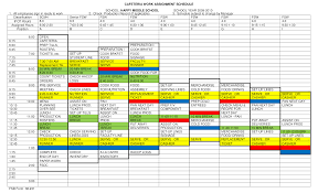 Free Cafeteria Work Assignment Schedule Templates At
