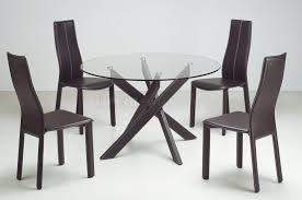 round dining table for 4 modern small black and chai