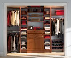 one wall closet design idea featured tiered shoe shelves under metal clothes rod terrific ideas