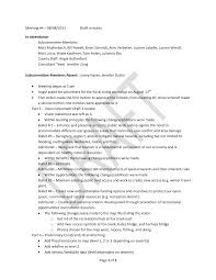 Page 1 of 2 Meeting #4 – 08/08/2011 Draft minutes In Attendance:  Subcommittee Members: Matt Mullenbach, Bill Powell, Brian