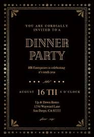 Dinner Party Invitation Templates Free Greetings Island