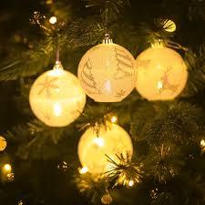 Lighted Christmas Ornaments Ball Led Ball Light Chrismas Xmas Tree Hanging Ornament Garden