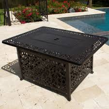 interior better propane fire pit coffee table 48 inch rectangular cast aluminum by propane