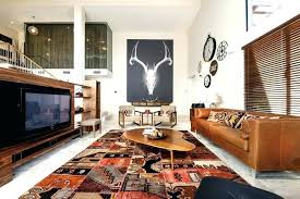 area rug with brown couch rugs living room southwestern leather sofa large for what decor leat