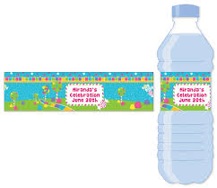 waterbottle labels candy land water bottle label birthday party water bottle stickers
