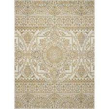 new casa aubosson yellow 8 ft x 11 ft area rug