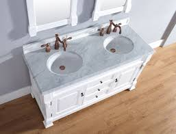 Traditional Bathroom Sinks Abstron 60 Inch Cottage White Finish Double Traditional Bathroom