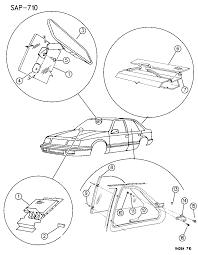 1994 dodge shadow glass windshield backlite quarter mirror diagram 00000csu