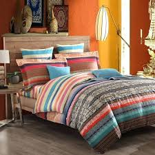 moroccan style bedding sets red blue and brown style tribal stripe print exotic vintage chic western