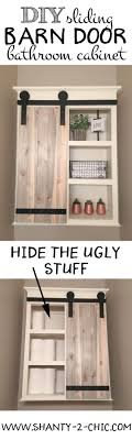 sliding cabinet doors for bathroom. DIY Sliding Barn Door Bathroom Cabinet - Shanty 2 Chic Doors For D