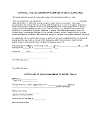 minors medical treatment permission letter for medical treatment