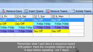 In other words, half the days are workdays. Work Schedules Improved 4 On 4 Off 12 Hour Shift Patterns Youtube