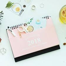 creative pocket design planner time muji style simple desk calendar 2017 2018 weekly planner daily table