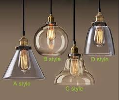 light bulb pendant light copper glass restaurant single vintage retractable wall lamp american stylein pendant lights from i30