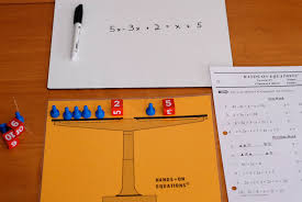 making math fun with hands on pre algebra guesthollow s blog hands on equations worksheets lesson