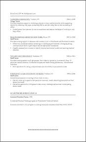 Sample Of Lpn Resume Licensed Practical Nurse Nursing Examples New